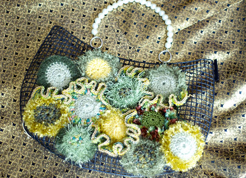 FREEFORM KNIT CROCHET BAG